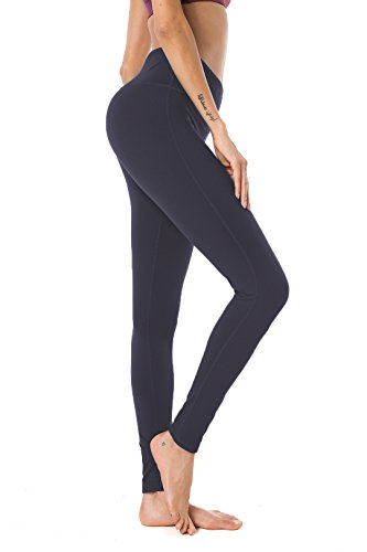 Queenie Ke Damen Power Flex Yoga Hosen Training Laufende Leggings Farbe Graues Blau Größe XXL