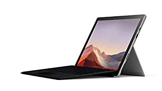 """Microsoft Surface Pro 7 12.3"""" Tablet (Platinum) - Intel 10th Gen Quad Core i7, 16GB RAM, 256GB SSD, Window 10 Home, 2019 Edition, and Black Type Cover (B07Z5J91BB) 