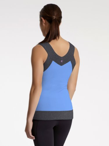 Zobha Damen Paige Tank Top Bluebird/Phantom Heather