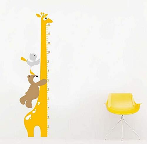 Abnehmbare Cartoon Giraffe Kind Junge Wachstum Höhe Grafik PVC Wandaufkleber 35 * 130 cm