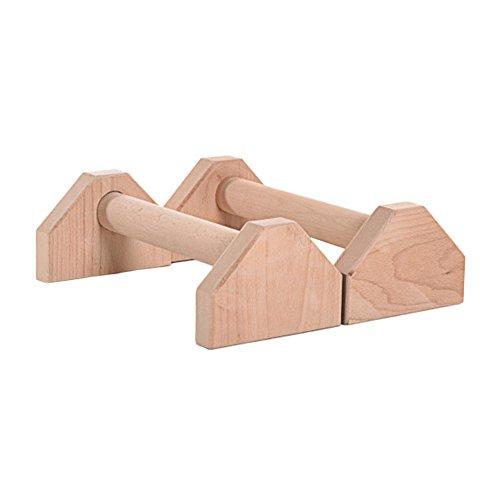Su-luoyu Barras Paralelas de Madera Barras paralelas Individuales Interiores Entrenamiento físico Soporte de Empuje Ponte de pie Deslizamiento de Humedad Buffer