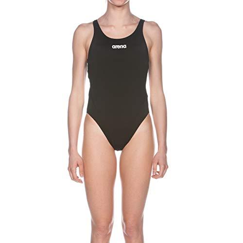 ARENA W High Bañador Deportivo Mujer Solid Swim Tech Alto, Black-White, 40