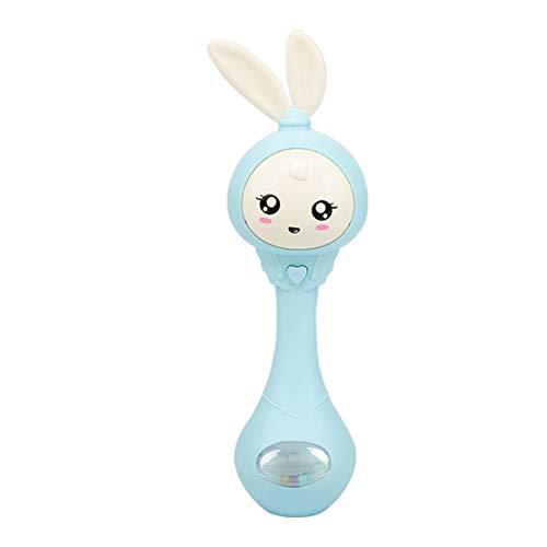 happy event Baby Kinder Rasseln   Handglockenstäbe   Cartoon Spielzeug   Cute Cartoon Tier Ring Glocke (Blau)