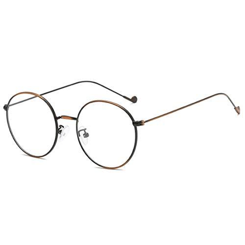 IOSHAPO Fashion Unisex Vintage Vollmetall-runder dünner Rand-Rahmen-optische Gläser