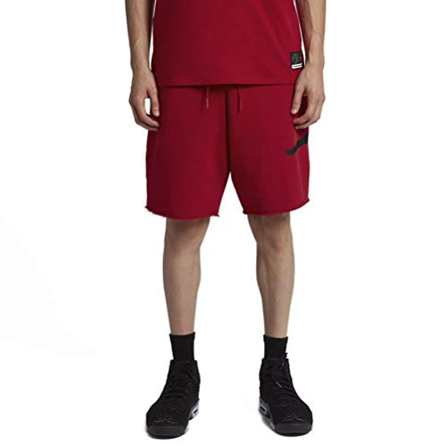Nike Herren Jordan Jumpman Air Fleece Shorts, Gym Red/Black, L -