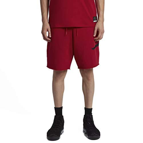 the latest 974fd 314ed Nike Jordan Jumpman Air Short en Polaire pour Homme XXL Rouge Noir