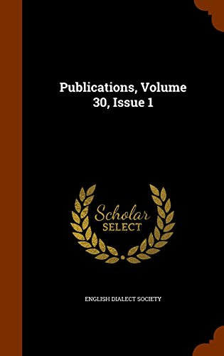 Publications, Volume 30, Issue 1