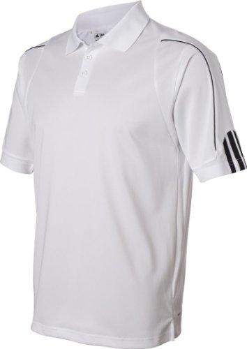 Adidas Herren ClimaLite 3-Streifen Manschette Piqué Polo Blanc - blanc/noir