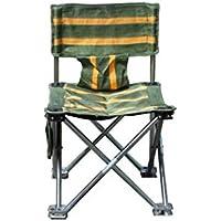 QWhing Taburete de Pesca Silla de Pesca Plegable portátil reclinable Silla de Camping para al Aire Libre y la Pesca (Verde y Amarillo) Playa de Deportes