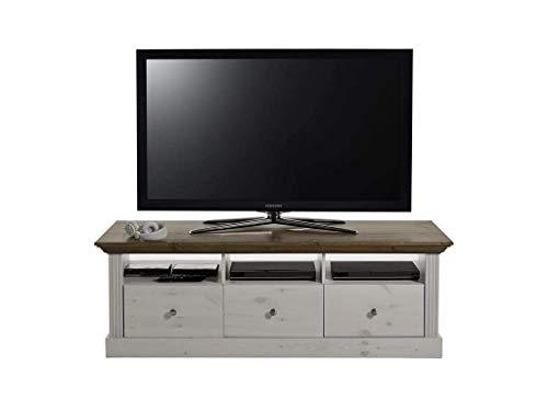 Steens 7317001264001F TV Wohnwand Monaco, 271 x 56 x 190 cm, Kiefer massiv, weiß Provence - 2