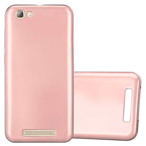 Cadorabo Hülle für ZTE Blade A612 - Hülle in METALLIC Rose Gold – Handyhülle aus TPU Silikon im Matt Metallic Design - Silikonhülle Schutzhülle Ultra Slim Soft Back Cover Case Bumper