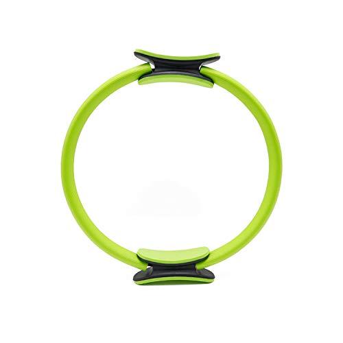 Fitness Pilates Ring, Doppelgriff Pilates Ring Magischer Kreis Körper Sport Fitness Gewicht Übung Yoga Kit (Grün, 41.3 * 6.5 * 37.5cm)