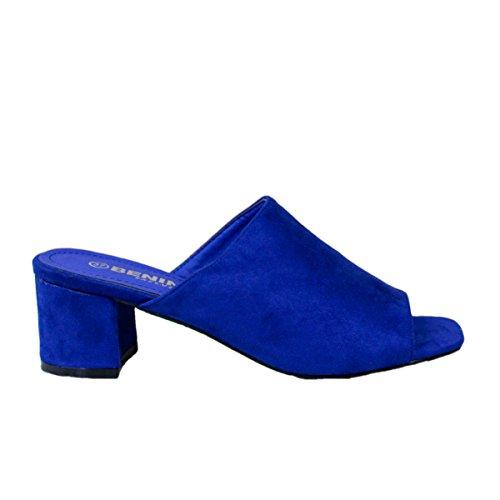 Buonarotti, Mules pour Femme Bleu