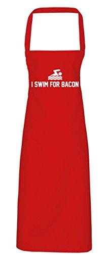 Speck Kostüme Kinder (hippowarehouse I Swim für Speck Schürze Küche Kochen Malerei DIY Einheitsgröße Erwachsene, rot,)