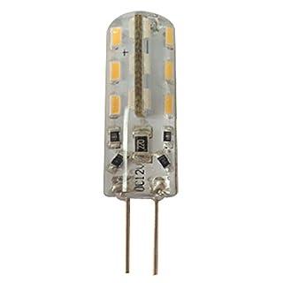 astek 10 x G4 LED 1,5 Watt Lampe wie 10 W Lampe X33, 110 Lumen LED Leuchtmittel 360° Lichtkegel, 12 Volt DC, warmweiß [Energieklasse A+]