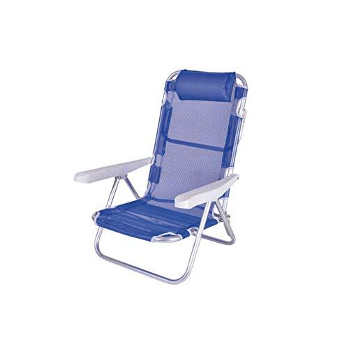Enrico coveri garden spiaggina sedia sdraio pieghevole in acciaio e tessuto con poggiatesta bianco - sedia sdraio mare, giardino e piscina