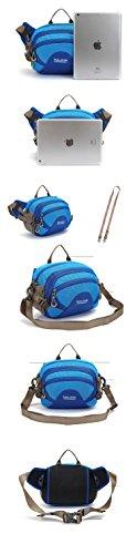 Outdoor peak Unisex Nylon wasserdicht Gürteltasche Multifunktions-Tasche Messenger Bag Transporttasche Reisetasche Kettle Paket Tagetasche Fahrrad Bergsteigen Lila