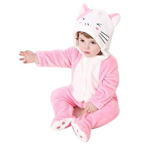 ZOLTA Katze Pyjamas Kleinkinder Kigurumi Unisexbaby Cosplay Onesie Kostümspielanzug Winter Anzug (100) (Katze Pyjamas Kostüm)