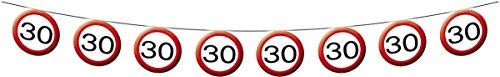 Folat Creative Geburtstag Party Verkehrsschild 12Meter Banner–30. Geburts