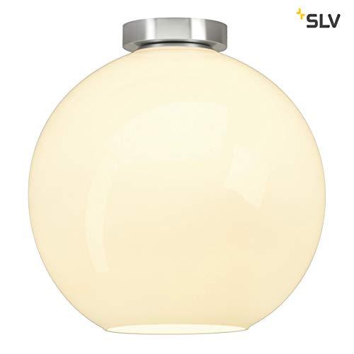 SLV Deckenleuchte Sun | Dimmbare LED Zimmerleuchte, Kugelleuchte, Decken-Lampe für Wohnzimmer, Bar, Esszimmer | Runde Innen-Lampe in exklusivem Kugel-Design (E27 Leuchtmittel, EEK A-A++, Ø19cm) -
