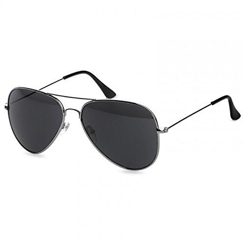 Caspar SG033 Damen Large Metal RETRO Fliegerbrille Sonnenbrille, -