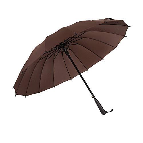 Regenschirm Langer Regenschirm Schwere 16 Knochen Automatisches Öffnen Wasserabweisend Leichte Regenzeit Guter Wassermangel Guter Einfacher Unisex Multicolor Regenkleidung -