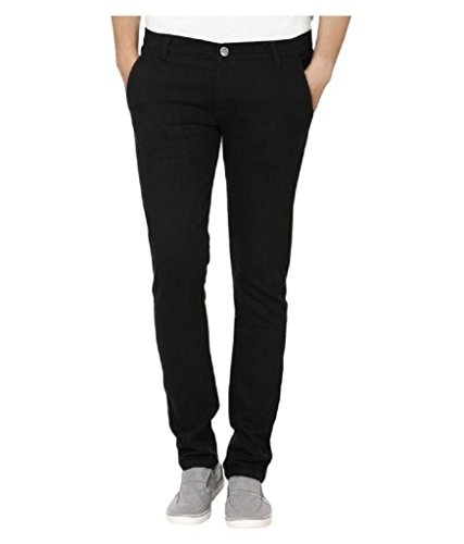 Urbano Fashion Men's Cotton Jeans (eps-black-38201-28_Black_28)