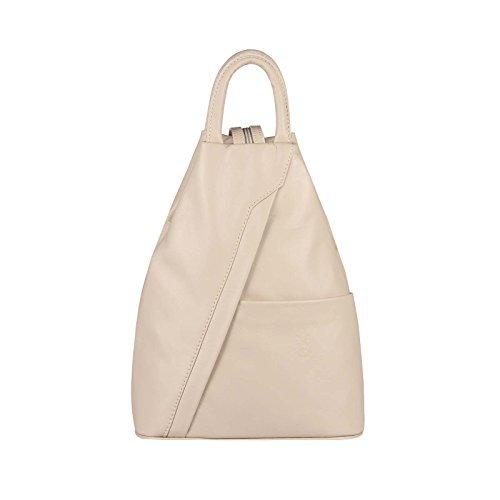 8974fd44a4b0b OBC Made in Italy Damen echt Leder Rucksack Lederrucksack Tasche  Schultertasche Ledertasche Daypack Backpack Handtasche Nappaleder