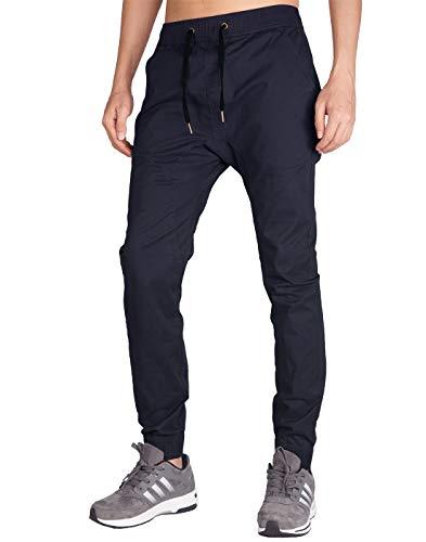 ITALY MORN Jogger Sweat Pants Baggy Casual Jogging Pantalon S Bleu Fonc