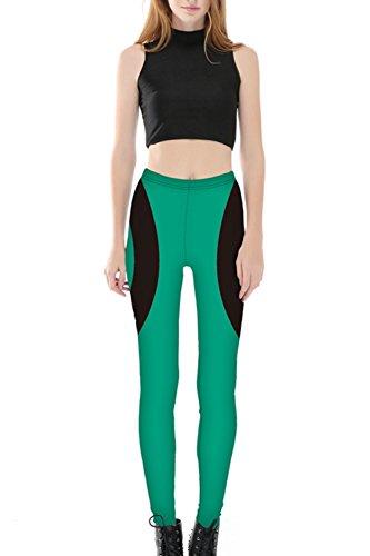 La Femme Est En Forme De Cœur Yoga Sports Élastique Pantalon Serré Les Jambières green