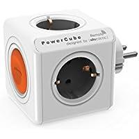 Allocacoc 1511/EUORRM - PowerCube Original (Remote) 4 Salidas Gris Oscuro/Naranja