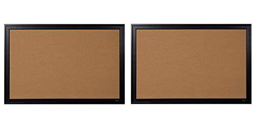Quartet Bulletin Board, Kork, 61 x 91,4 cm, schwarzer Rahmen (13769) Pack of 2 (Board Bulletin Kleine)