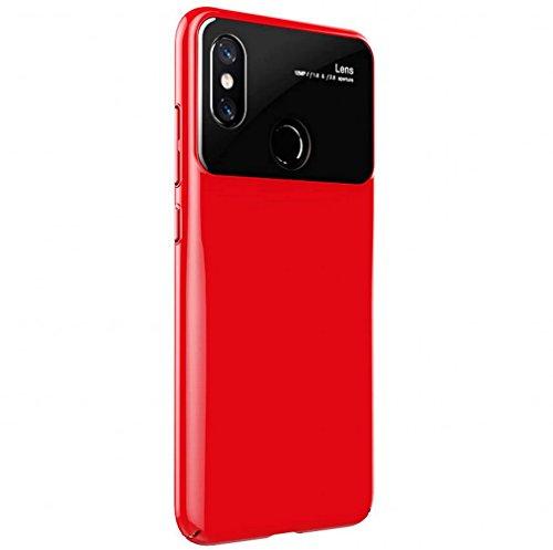 Custodia Xiaomi Mi 8, Voigeer [Non Antiscivolo] [Soft TPU Interior] [Durable PC Exterior] Custodia Protettiva Protettiva Completa per Custodia Protettiva, Custodia Resistente Agli Shock a Doppio Strato per Xiaomi Mi 8 (Rosso)