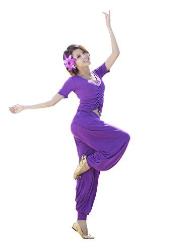 ZhiYuanan Damen 2Pcs Bauchtanz Kostüm Yoga Kleidung Anzug -