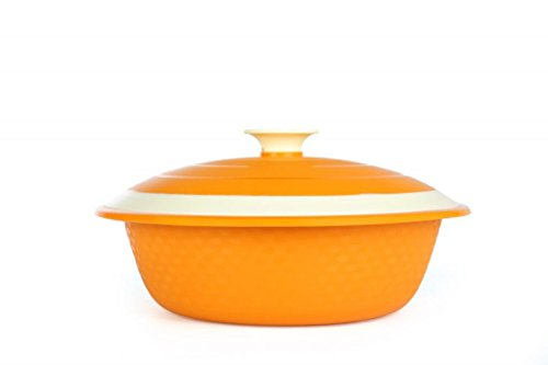 Cutting Edge Carnation Microwave Safe Serving Dish, Set of 1, 1.8 Litre, Candy Orange  available at amazon for Rs.199