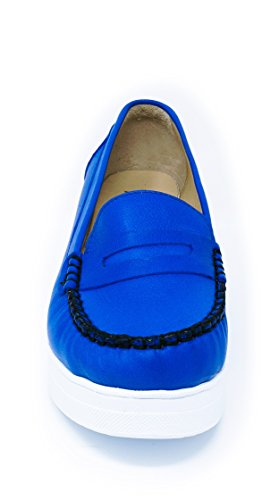 BOBERCK Daphne Collection Women's Platform Mocassin Blue