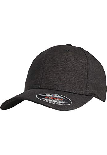 A-flex-fitted-caps (Flexfit Natural Melange Kappe black L/XL)