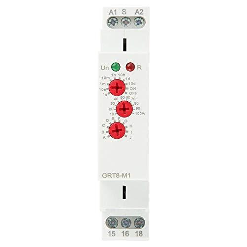 GRT8-M1 Multifunktionale Verzögerung, Zeit Relais Mit 10 Arten von Verzögerungsfunktionen, Einschließlich Verzögerung ein, Verzögerung aus, Zyklusverzögerung, AC 220V für DIN-Schienenmontage