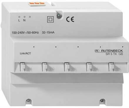 Rutenbeck Gigabit-Switch SR 5TX GB für REG Montage Netzwerk Switch 4043921663288