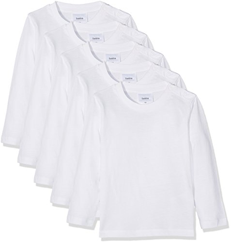 Twins, Camiseta Manga Larga para Bebé (pack de 5), Blanco (11-0601 Weiss),...