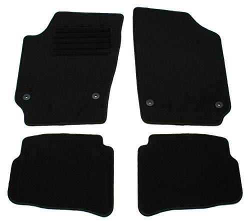 AD Tuning GmbH HG10147 Velours Passform Fußmatten Set Schwarz Autoteppiche Teppiche