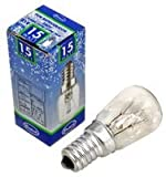Pike & Co® Marken–Kühlschrank-Glühbirne, 15Watt, SES, E14–W/min 3Jahre Garantie