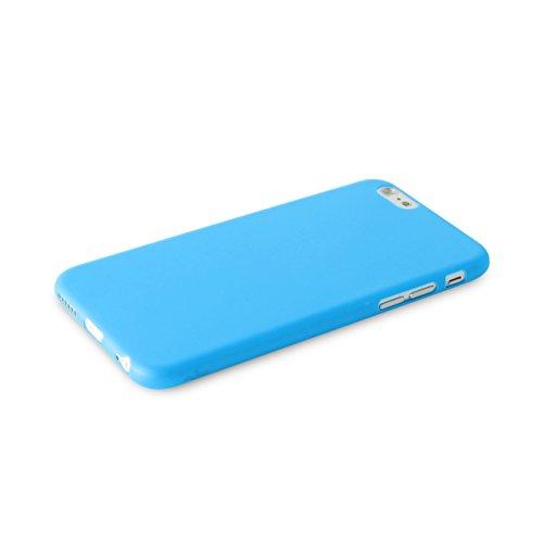 Puro Back Case Ultra Slim 0.3 Schutzhülle (für Apple iPhone 6/6S) Transparent Blau