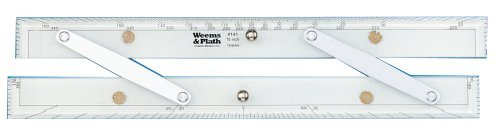 Weems & Plath Marine Navigation Parallel Ruler (Aluminum Arms, 15-Inch) by Weems & Plath -