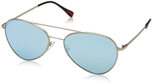 Prada Sport Herren 0PS50SS 1AP2F2 57 Sonnenbrille, Silber (Matte Polargrey Silver)