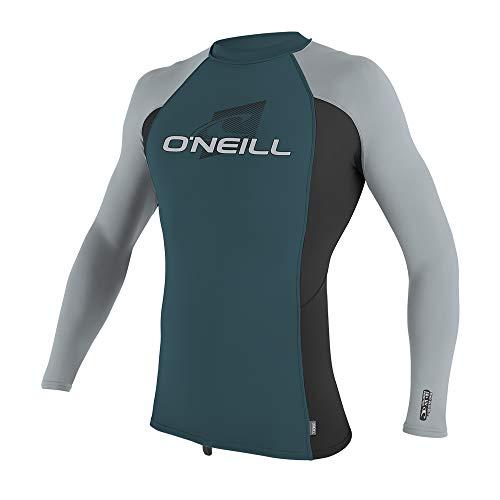 O';Neill Youth Kinder Junior Premium Skins Langarm Rash Weste Top Türkis Schwarz - Quick Dry - Unisex