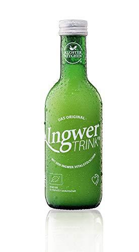 12 x 20ml IngwerTRINK in der 250ml Flasche - BIO und vegan - mit frischen Ingwer-Stückchen, Zitrone und Agave - das Original hergestellt in Österreich (1)