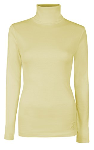 cdfa78bdb46 Womens Roll Necks Ladies Polo Neck Tops Exclusively Brody   Co Plain  Winter Ski Quality Stretch ...