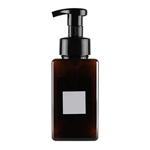 SEGRJ 450 ml Kunststoff Schaum Flasche Container Shampoo Lotion Flüssigseife Pumpspender Leere Shampoo Presse Pumpflasche für Conditioner, Body Wash, Haargel Braun 450ml