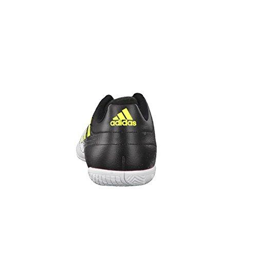 adidas Ace 17.4 In, Chaussures de Futsal Homme, BLACK1/Wht/BLACK1 Blanc (Footwear White/Solar Yellow/Core Black)